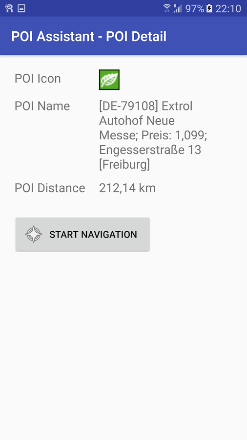 Android POI Assistant Screenshot 3